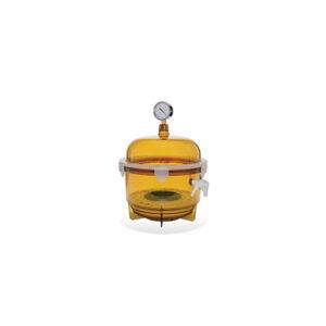 UV Block Cylindrical Vacuum Desiccator