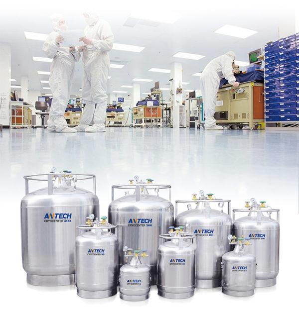 liquid nitrogen LN2 tank