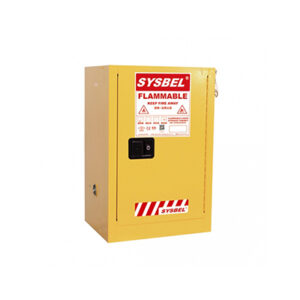 The Sysbel 45L Flammable Storage Cabinet - 1 Door, Self Closing safety cabinets